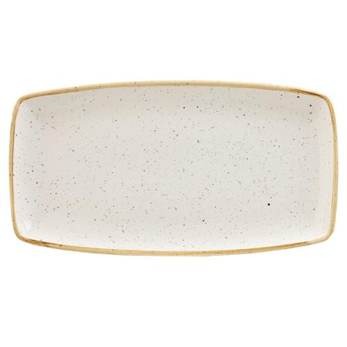 bord rechthoekig 35x18 5cm churchill stonecast barley white SWHSOP141