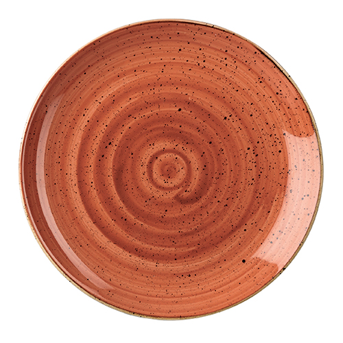 coupebord 26cm churchill stonecast spiced orange SSOSEV101