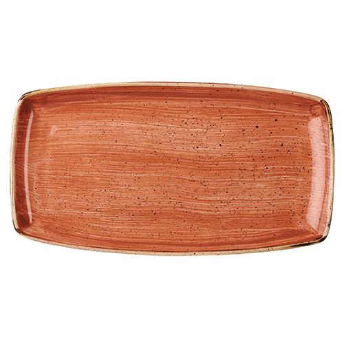 bord rechthoekig 35x18 5cm churchill stonecast spiced orange SSOSOP141