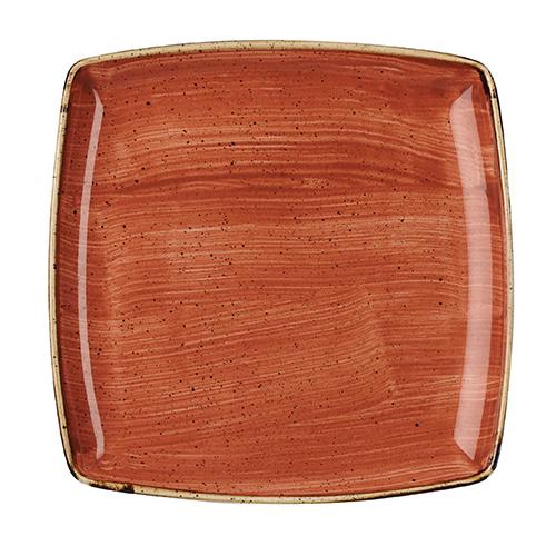 bord diep vierkant 26 8cm churchill stonecast spiced orange SSOSDS101