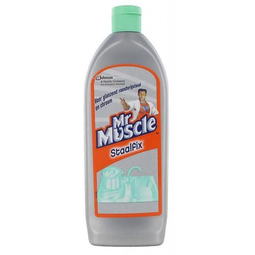 Mr Muscle staalfix flacon 200ml glazend roestvrijstaal en chroom