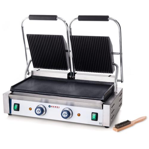 contact grill dubbel pannini grill hendi gegroefde top gladde bodem