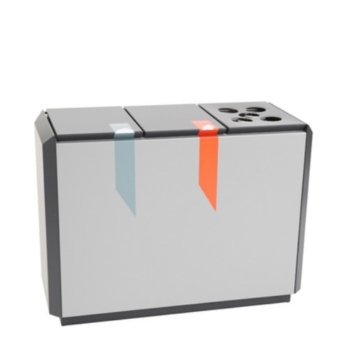 RecycloStar 3 brandveilige afvalscheidingsunit bekerinzet