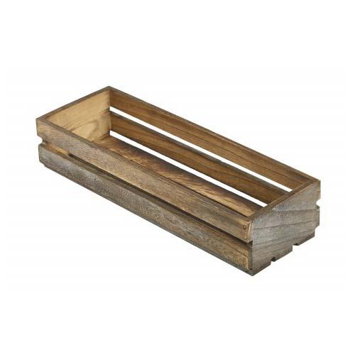 Tafelkratje langwerpig menage hout leeg