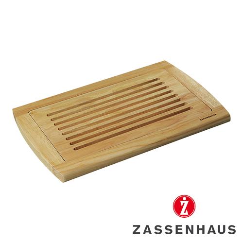 Broodsnijplank Zassenhaus rubberwood kruimelvanger