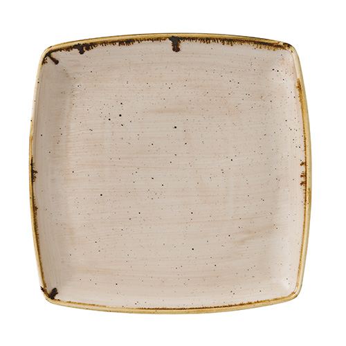 bord diep vierkant 26 8cm churchill stonecast nutmeg cream SNMSDS101