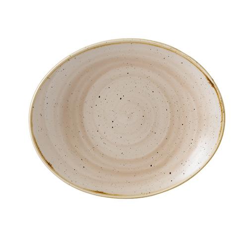 bord ovaal 19 2cm churchill stonecast nutmeg cream SNMSOP71