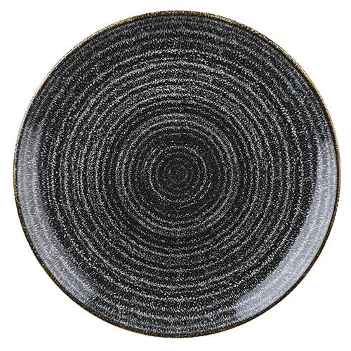 coupebord 28 8cm churchill studio prints homespun charcoal black SPCBEV111