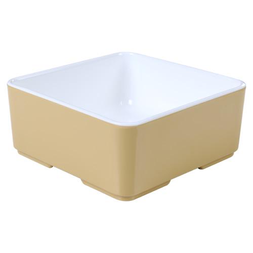 Melamine bakje vierkant laag Cube champagne