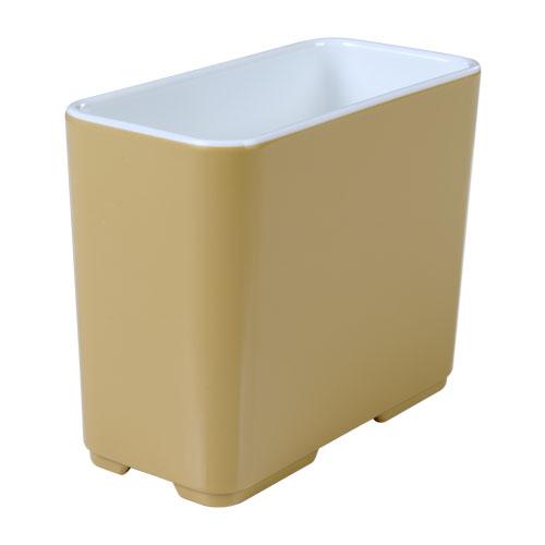 Melamine bakje rechthoekig hoog Cube champagne