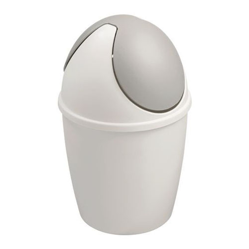 Tafelafvalbakje met tuimeldeksel tiglio kleur wit grijs