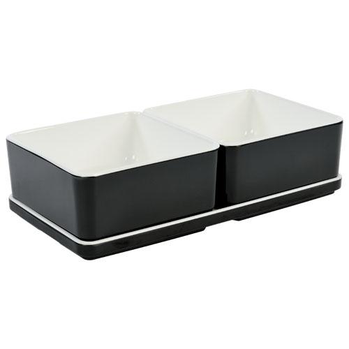 Cube organizer set1 kleur zwart melamine