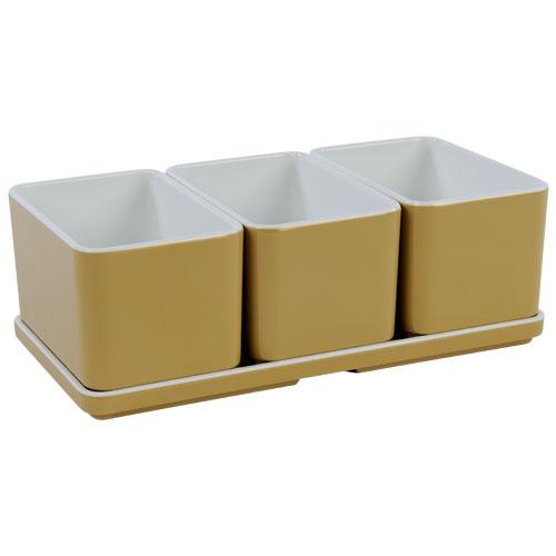 Cube organizer set2 kleur champagne melamine