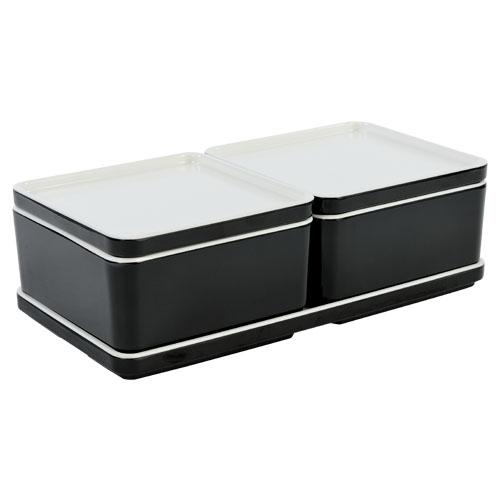 Cube organizer set4 kleur zwart melamine