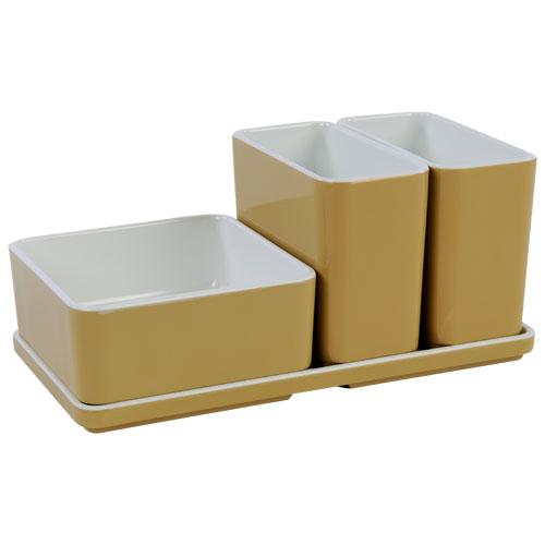 Cube organizer set5 kleur champagne melamine