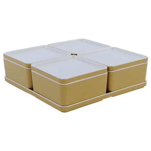Cube organizer set8 kleur champagne melamine