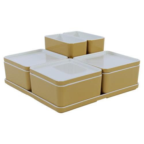 Cube organizer set17 kleur champagne melamine