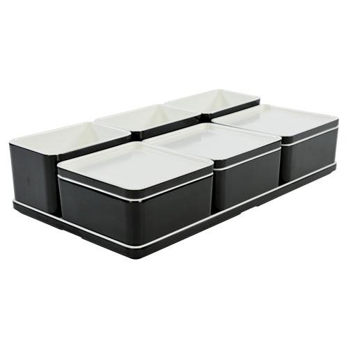Cube organizer set22 kleur zwart melamine