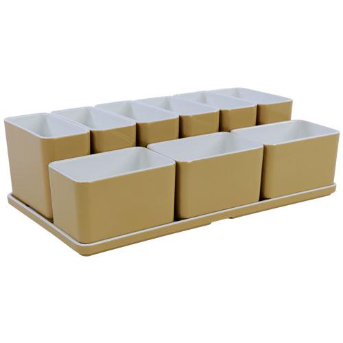 Cube organizer set23 kleur champagne melamine