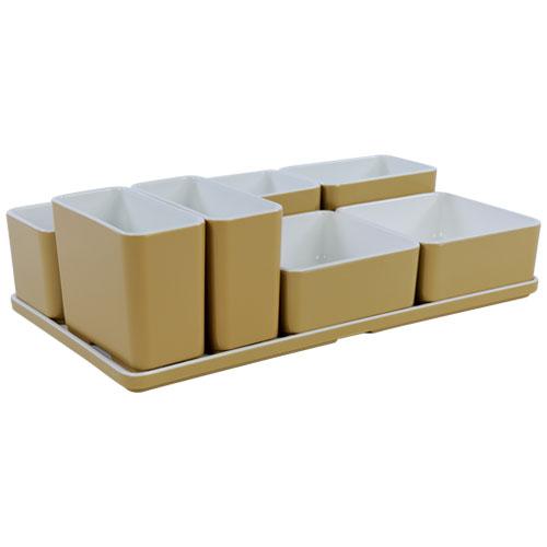 Cube organizer set26 kleur champagne melamine