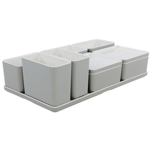 Cube organizer set27 kleur lichtgrijs melamine