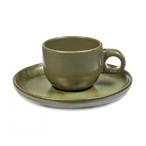 espressokop 10cl espresssoschotel camo green surface by sergio herman serax