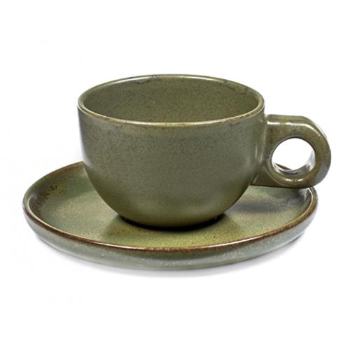 koffiekop 13cl koffieschotel caffe lungo camo green surface by sergio herman serax