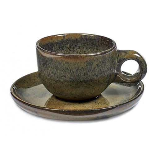 koffiekop 13cl koffieschotel caffe lungo indy grey surface by sergio herman serax