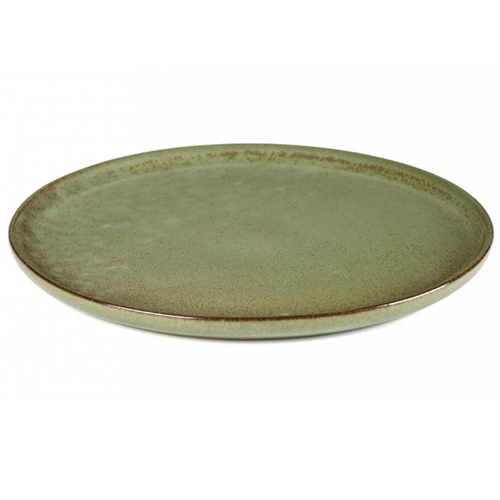 bord rond 27cm camo green surface by sergio herman serax
