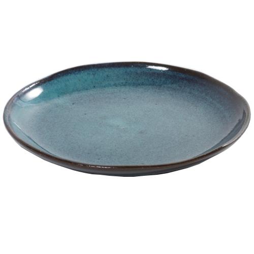 dessertbord aqua blauw gespikkeld 22cm serax servies