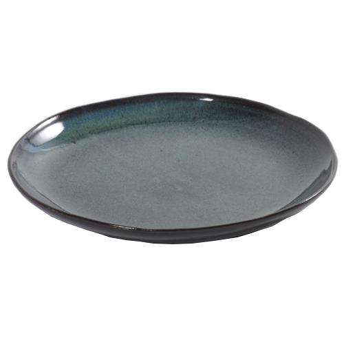 dessertbord aqua groen gespikkeld 22cm serax servies