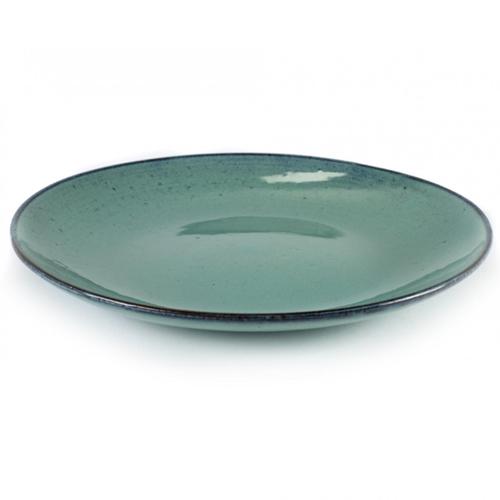 bord groot large aqua turquoise 28 5cm serax servies