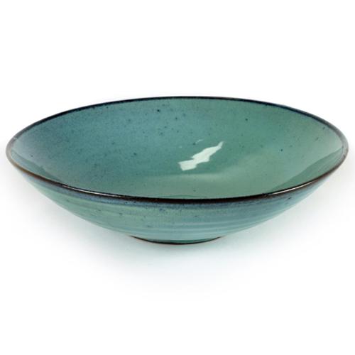 bord diep aqua turquoise 23cm serax servies