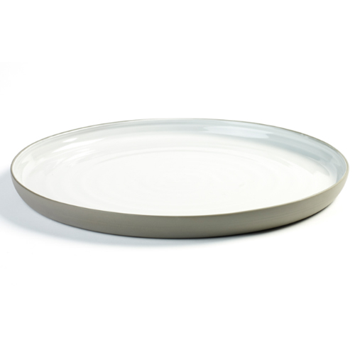 bord 31cm xl antracietgrijs wit martine keirsebilck dusk serax