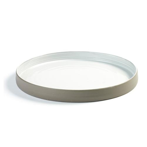 bord diep m 20 3cm antracietgrijs wit martine keirsebilck dusk serax