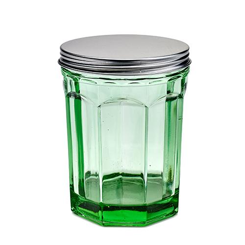 voorraadpot bokaal geperst glas transparant groen fishfish serax servies