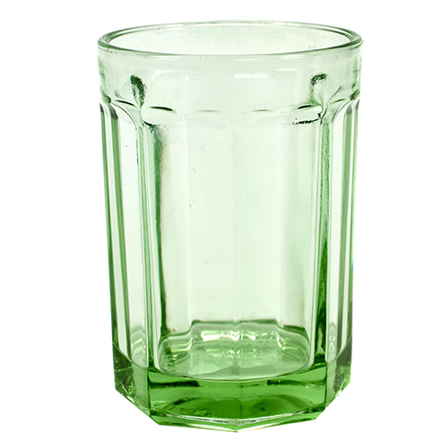 drinkglas large 40cl geperst glas transparant groen fishfish serax servies