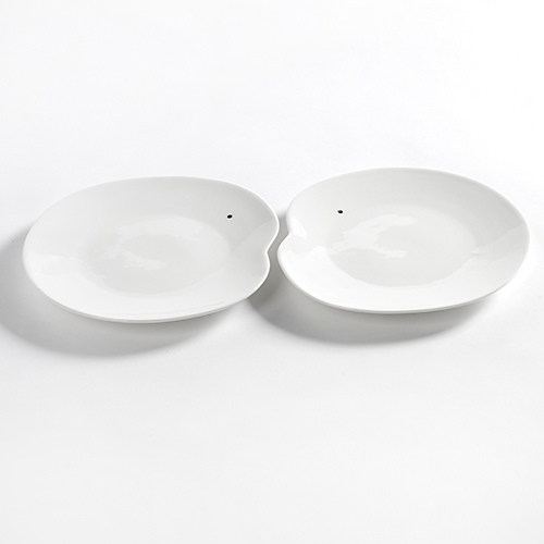 bord large 23cm set 2stuks kleur wit facing food serax servies