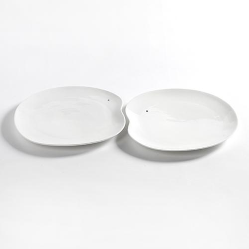 bord extra large 31cm set 2stuks kleur wit facing food serax servies