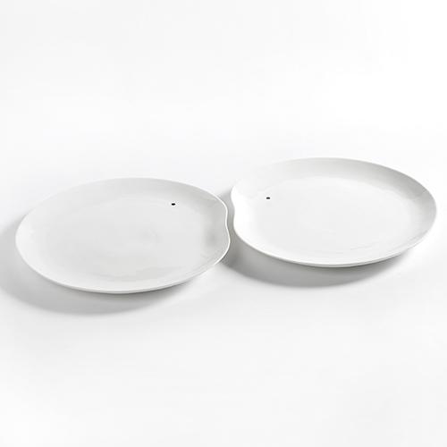 serveerbord 33cm set 2stuks kleur wit facing food serax servies