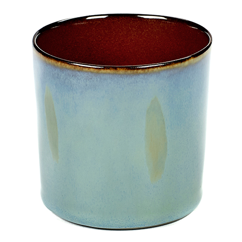beker 23cl kleur smokey blue rust servies terres de reves serax