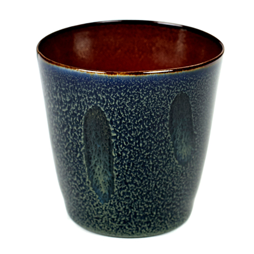 beker 18cl conisch kleur dark blue rust servies terres de reves serax