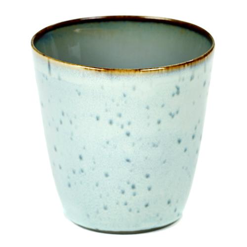 beker 18cl conisch kleur light blue smokey blue servies terres de reves serax