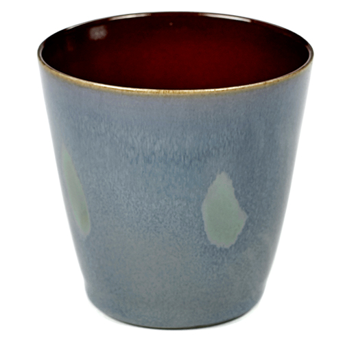 beker 18cl conisch kleur smokey blue rust servies terres de reves serax