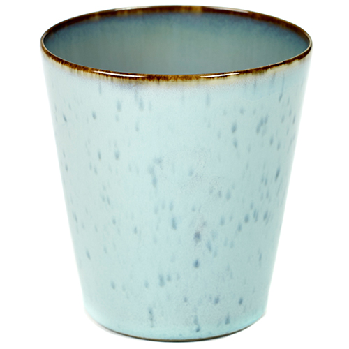 beker 34cl conisch kleur light blue smokey blue servies terres de reves serax
