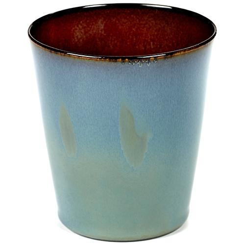 beker 34cl conisch kleur smokey blue rust servies terres de reves serax