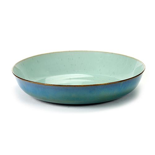 serveerschaal m kleur light blue smokey blue servies terres de reves serax