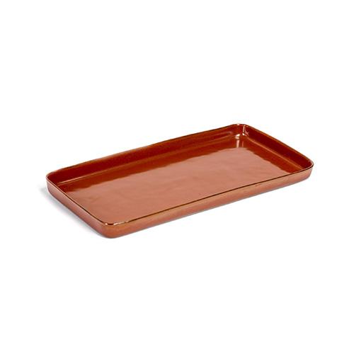 serveerschaal rechthoekig 37x19cm kleur rust servies terres de reves serax