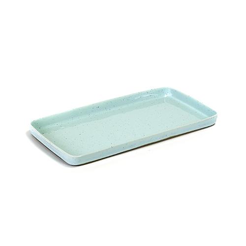 serveerschaal rechthoekig 37x19cm kleur light blue servies terres de reves serax
