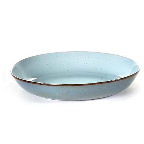 serveerschaal pastabord 23 5cm kleur blue smokey blue servies terres de reves serax